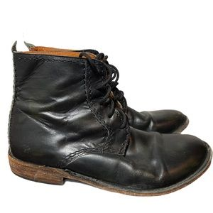 Bed stu boots black leather lace up GUC size 10